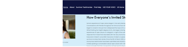 Everyone is Invited home page, Soma Sara founder