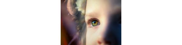 Child eye close up