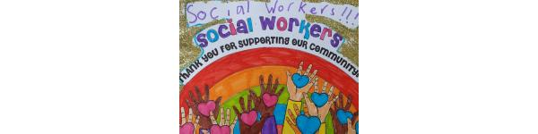 Drawing made to show appreciation towards social workers